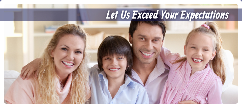 Let Us Exceed Your Expectations | Happy family in air conditioned home