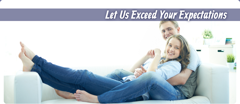 Let Us Exceed Your Expectations | Happy couple inside home