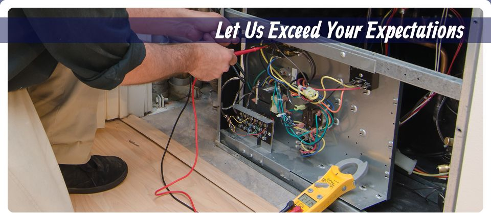 Let Us Exceed Your Expectations | Man working on air conditioner