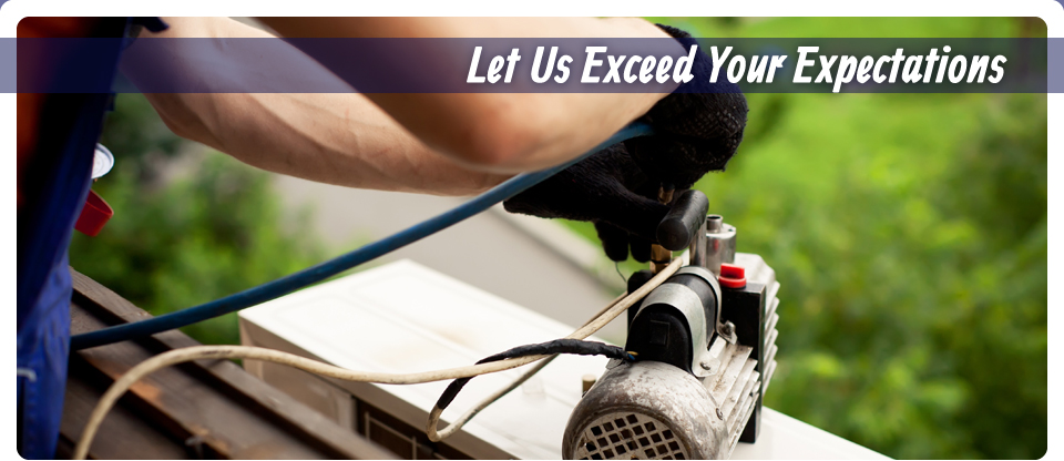 Let Us Exceed Your Expectations | Man repairing air conditioner
